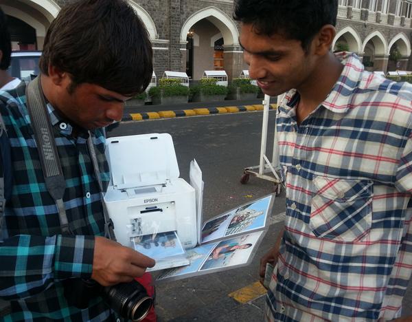 Photo seller with Sagar